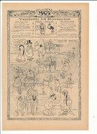 2 Scans Presse 1903 Humour Métier Cocher Fiacre Paris Passy Omnibus Nocturne Parisien Facteur Réforme Orthographe 223CH6 - Old Paper