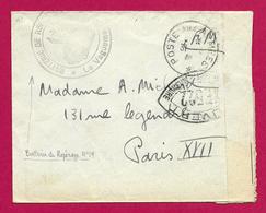 Enveloppe Contrôlée Par L'Armée En Franchise Militaire - Voyagée Vers Paris - Marcophilie (Lettres)