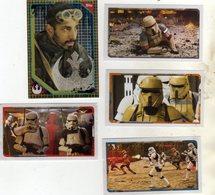 Lot De 5 Vignettes Autocollantes Star Wars Rogue One Disney Topps - Stickers