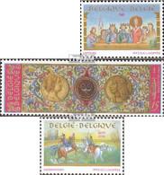 Belgien 2543-2545 (kompl.Ausg.) Postfrisch 1993 Geschichte - Belgien