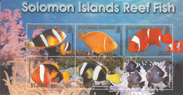 2001 Solomon Islands  Reef Fish Souvenir Sheet Of 6 MNH - Salomoninseln (Salomonen 1978-...)