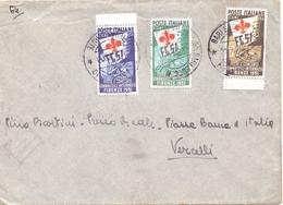 Interessante Lettera Con Serie Completa GINNICI Per VERCELLI - 6. 1946-.. Repubblica
