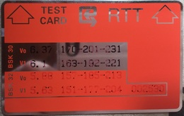 TEST CARD : TE6  (black Reverse) MINT - Belgium