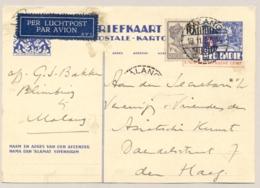 Nederlands Indië - 1937 - 3,5 Cent Op 5 Cent CARTE POSTALE - KARTOEPOS, Briefkaart G60 Van Malang/6 Naar Den Haag - Indes Néerlandaises