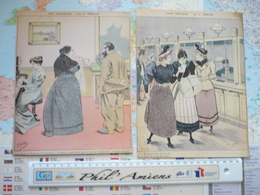 Images Satiriques Illustrateur G.Grellet : 12 Images Découpées Dans Des Journaux - Vieux Papiers