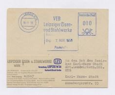 DDR AFS - LEIPZIG, VEB Leipziger Eisen- Und Stahlwerke Auf Firmenkartenfragment 06.11.58 - DDR