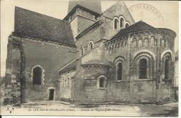 LES AIX D'ANGILLON , Abside De L' Eglise ( XII Siècle ) , 1915 , + Cachet Militaire - Les Aix-d'Angillon