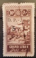 NO11 - Lebanon 1925 Grand Liban 10p Overprinted D.P. 5 P.S. (Dette Publique) Revenue Stamps - Scarce - Liban