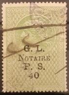 NO11 - Lebanon 1921 PS40 Green Notarial Revenue Stamp - Lebanon