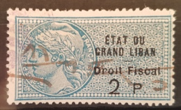 NO11 - Lebanon 1922 ETAT DU GRAND LIBAN  2p Fiscal Revenue Stamp - Lebanon