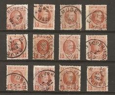 Belgique 1922/7 - Albert Houyoux - Cob 192 - Petit Lot De 12° - Eppeghem - Machelen - Middelkerke - Veurne - Ypres - Wer - 1922-1927 Houyoux