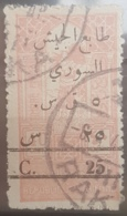 NO11 - Syria 1945 SG T421 Obligatory Tax 5p On 25p On 40p Pale Rose - Syria