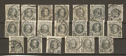 Belgique 1922/7 - Albert Houyoux - Cob 193 - Petit Lot De 20° - Chimay - Binche - Courtrai - Iseghem - Niewpoort - Wevel - 1922-1927 Houyoux