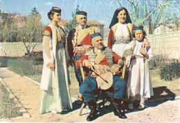 Montenegro Folklore Folk Music Costume Postcard - Europe