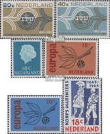 Niederlande 840-841,842,848-849,855 (kompl.Ausg.) Postfrisch 1965 ITU, Juliana, Europa, Marine - 1949-1980 (Juliana)