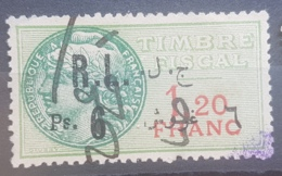 """NO11 #15 - Lebanon 1926 Ps 6 On 1,20f Green Fiscal Revenue Stamp, Without """"Droit Fiscal"""" - Lebanon"""