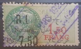 NO11 - Lebanon 1926 Notarial Revenue Stamp 7.50 PS Missing Arabic Half P Error - Lebanon