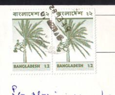 Man And Coconut Tree2 Stamps Val. 2 R.1981/82 Bangladesh On Postcard - Bangladesh