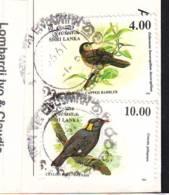 Birds 2 Stamps  Val. 4 And Val. 10   On Postcard  Sri Lanka - Sri Lanka (Ceylon) (1948-...)