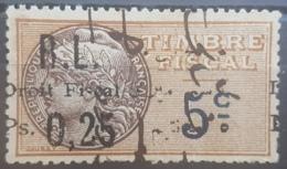 NO11 - Lebanon 1927 Notarial Revenue Stamp 0,25 PS # 27gg Shifted Left & Missing Arabic A Of Amiri Error - Lebanon