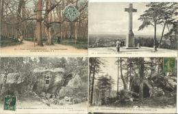 LOT DE 90 CARTES POSTALES ANCIENNES DE LA FORÊT DE FONTAINEBLEAU (77). - Fontainebleau