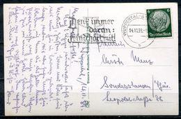 """German Empires 1939 Photo AK (Wuppertal) Mit Propaganda MWST""""Wuppertal-Denk Immer Daran:FEIND HÖRT MIT! """"1 Beleg - Deutschland"""