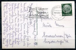 "German Empires 1939 Photo AK (Wuppertal) Mit Propaganda MWST""Wuppertal-Denk Immer Daran:FEIND HÖRT MIT! ""1 Beleg - Briefe U. Dokumente"
