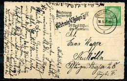 """German Empires 1937 AK (Geburtstag) Mit Propaganda MWST""""Berlin O17-Ausstellung-GEBT MIR 4 JAHRE ZEIT """"1 Beleg - Poststempel - Freistempel"""