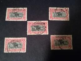 N° 46 X 5 Congo Belge  Avec Belles Oblitérations De Bureaux Du KATANGA Post Offices Cancellations - Belgisch-Kongo