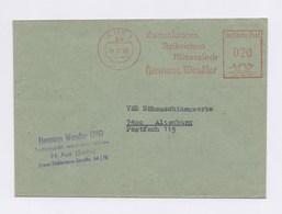 DDR AFS - AUE, Gummiwaren Treibriemen Mineraloele Hermann Wendler Auf Brief 1983 - DDR