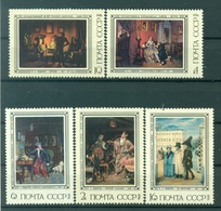 URSS 1976 - Y & T N. 4264/68 -  Peinture Russe. Tableaux De Pavel Fedotov - 1923-1991 USSR