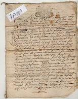 VP13.275 - Cachet Généralité De ? - Acte De 1727 - RUELLE SUR TOUVRE - Généalogie - Contrat De Mariage à Déchiffrer - Seals Of Generality