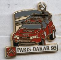 Pin's Voiture Automobile Citroën Paris Dakar 93 Total Michelin - Citroën