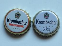 Lote 2 Chapas Kronkorken Caps Tappi Cerveza Krombacher. Alemania - Beer