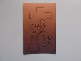Devotieprentje: Eerste Communie , In Groep St.Lambertusinstituut : BROOS-CLAESSENS-CLOET-COOREMAN-DE CLERCK_ - Communion