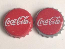 Lote 2 Chapas Kronkorken Caps Tappi Coca Cola. España - Chapas Y Tapas