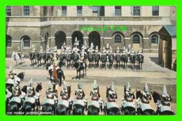 LONDON, UK - THE HORSE GUARDS - F. HARTMANN REAL GLOSSY SERIES - - Buckingham Palace