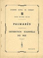 CHIMAY : Athénée Royal - Palmarès Scolaire - Distribution Des Prix Année Scolaire 1958 - 1959 - Diploma & School Reports