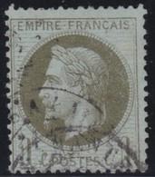 France  .      Yvert   .     25            .                 .         O    .     Oblitéré - 1863-1870 Napoleon III With Laurels
