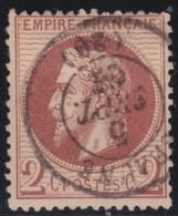 France  .      Yvert   .     26            .                 .         O    .     Oblitéré - 1863-1870 Napoleon III With Laurels