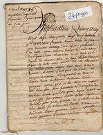 VP13.276 - Cachet Généralité De LIMOGES - Acte De 1789 - Inventaire Veuve Jean GROS à RUELLE SUR TOUVRE - Cachets Généralité