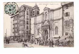 83 Toulon Eglise St Saint Jean Cpa Carte Animée Animation Marchand Marché Cachet 1907 - Toulon