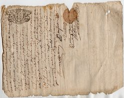 VP13.277 - Cachet Généralité De LIMOGES - Acte De 1732 - RUELLE SUR TOUVRE à Déchiffrer - Seals Of Generality