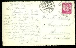 JOEGOSLAVIE * POSTKAART Uit 1937 Gelopen Van BLED Naar SEMARANG NED-INDIE   (11.454f) - Brieven En Documenten