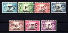 NYASALAND    1963    Revenue  Stamps  Overprinted  Postage   Short  Set  Of  7    USED - Malawi (1964-...)