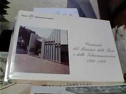 5 CARD LIBRETTO Centenario Del Ministero Delle Poste E Delle Telecomunicazioni N1989  GX5449 - Poste & Postini