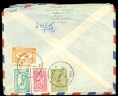 Saoedi-Arabië * Saudi Arabia * BRIEFOMSLAG Uit 1959 By Air Mail Van RYAD Naar DEN HAAG NEDERLAND   (11.454h) - Saudi Arabia