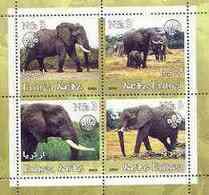 ERITREA   367 MINT NEVER HINGED MINI SHEET OF WILDLIFE & ANIMALS ; ELEPHANTS - Fantasy Labels