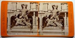 MONUMENTO DI AMEDEO VI DETTO IL CONTE VERDE - TORINO - Stereoscopic