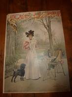 édit. Origine 1895 Rare Plaque Publicitaire Du FIGARO ILLUSTRÉ 52cm X 32cm :Litho: Gouter Au Pavillon D'Armenonville - Targhe Di Cartone